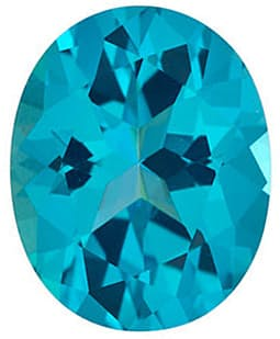 Oval Shape Paraiba Passion Topaz Gemstone Grade AAA, 9.00 x 7.00 mm in Size
