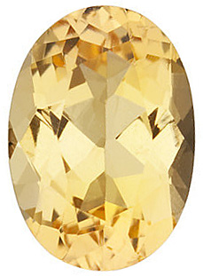 Oval Shape Precious Golden Topaz Genuine Quality Loose Faceted Gem Grade AAA, 9.00 x 7.00 mm in Size