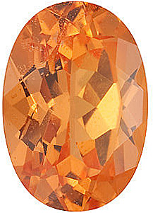 Oval Shape Spessartite Orange Garnet Natural Fine Loose Gemstone  Grade AAA 6.00 x 5.00 mm in Size