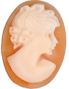 Oval Shape Traditional Lady Orange Shell Cameo Real Quality Gemstone 8.00 x 6.00 mm in Size
