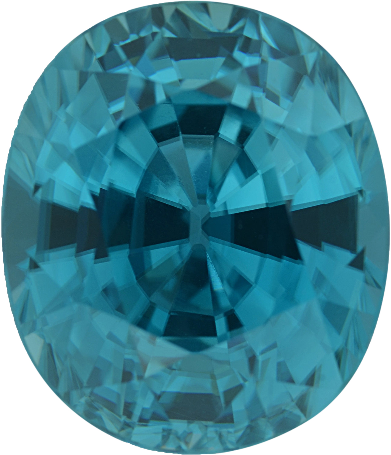 7.05 carats Oval Cut Genuine Zircon Gem, 11.03 x 9.03 mm