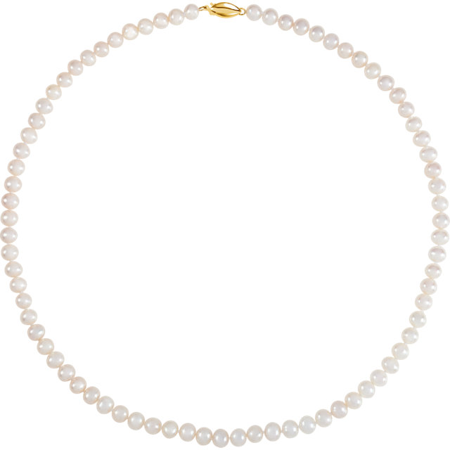 Eye Catching Panache Genuine Freshwater Cultured Pearl Strand