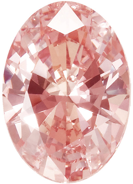 Peach Swarovski Cubic Zirconia Beautiful Gemstone in Oval Cut, Sized 6.00 x 4.00 mm