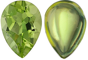 <b>Peridot Pear Cut - Calibrated</b>