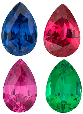 PEAR CUT GEMSTONES
