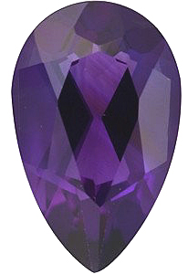Pear Cut Genuine Amethyst in Grade AAA