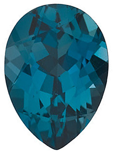 Pear Cut Genuine London Blue Topaz in Grade AAA