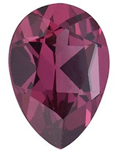 Pear Cut Genuine Rhodolite Garnet in Grade AAA