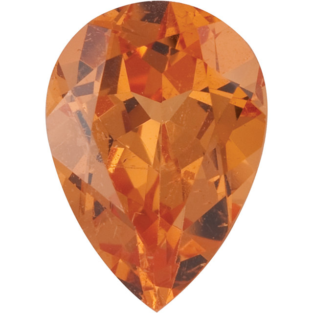 Pear Cut Genuine Spessartite Garnet in Grade AAA