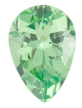 Pear Cut Genuine Tsavorite Garnet in Grade AA
