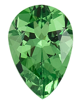 Pear Cut Genuine Tsavorite Garnet in Grade AAA