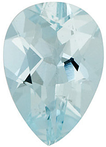 Pear Shape Aquamarine Faceted Loose Genuine Gemstone Grade B 0.2 carats,  5.00 x 3.00 mm in Size