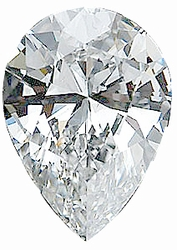 Pear Shape Genuine High Quality Loose Diamond G-H Color - SI1 Clarity, 4.00 x 2.50 mm in Size