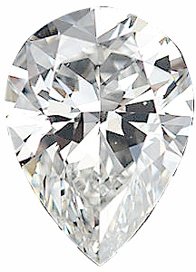 Pear Shape Genuine High Quality Loose Diamond G-H Color - VS Clarity, 4.00 x 3.00 mm in Size
