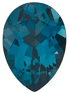 Pear Shape London Blue Topaz Gemstone Grade AAA, 10.00 x 7.00 mm in Size, 2.35 Carats