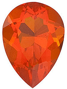 Fine Natural Calibrated Pear Shape Mexican Fire Opal Gemstone Grade AA, 5.00 x 3.00 mm in Size, 0.14 carats
