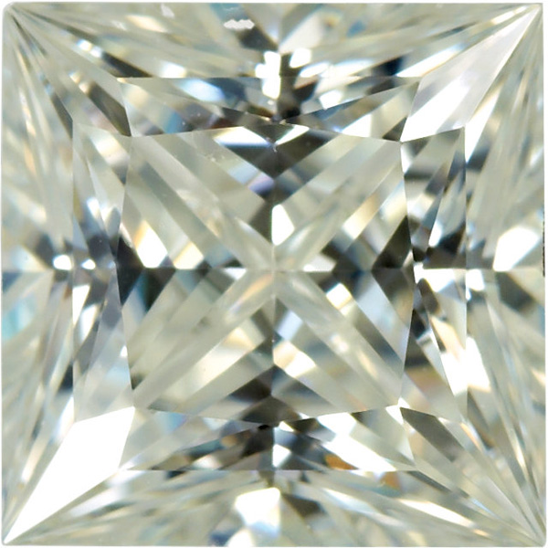 Lab Grown Moissanite by Charles & Colvard in Princess Shape Grade AAA, 6.00 mm