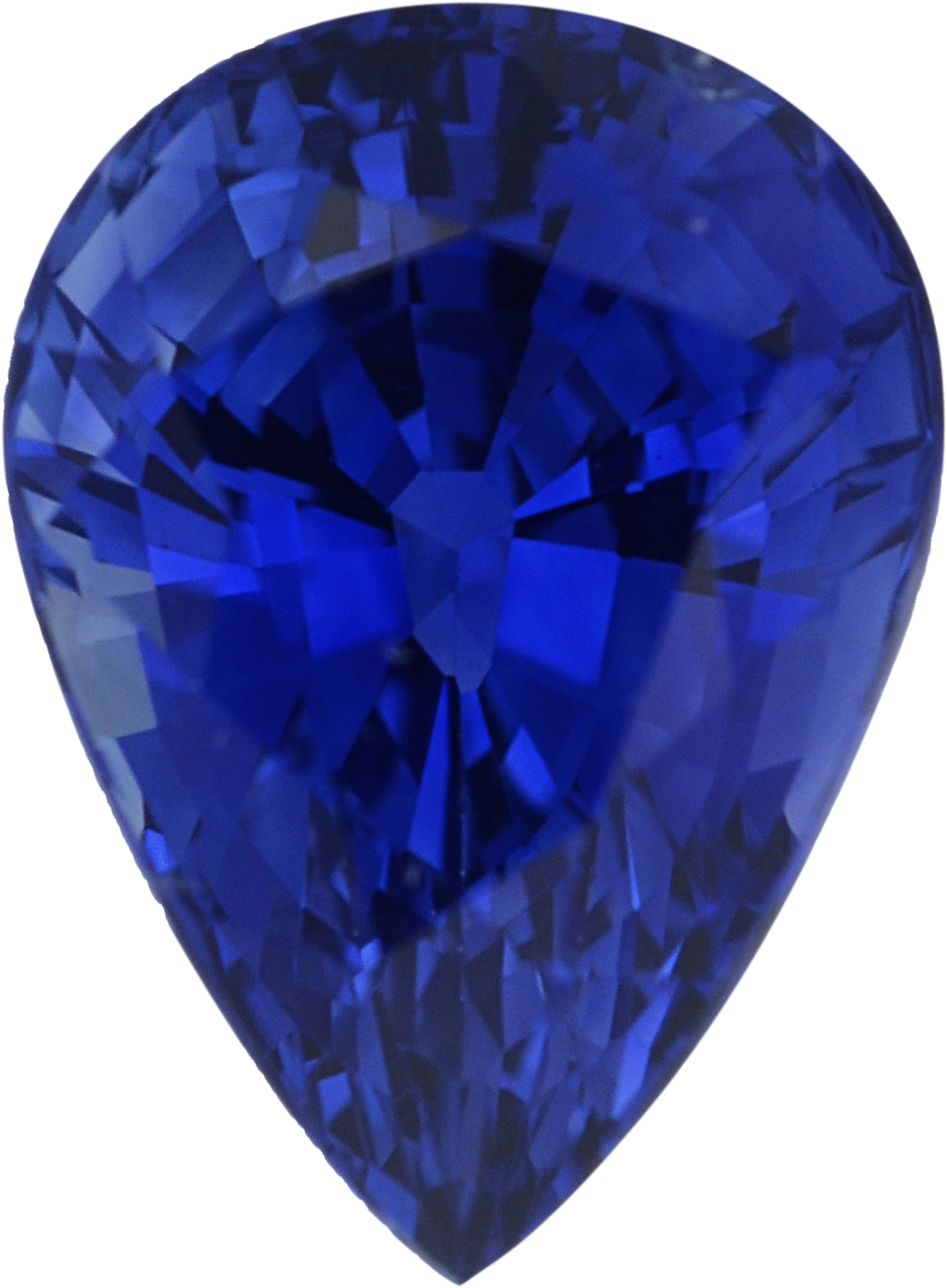 1.2 carats Blue Loose Sapphire Gemstone in Pear Cut, 7.39 x 5.41 mm