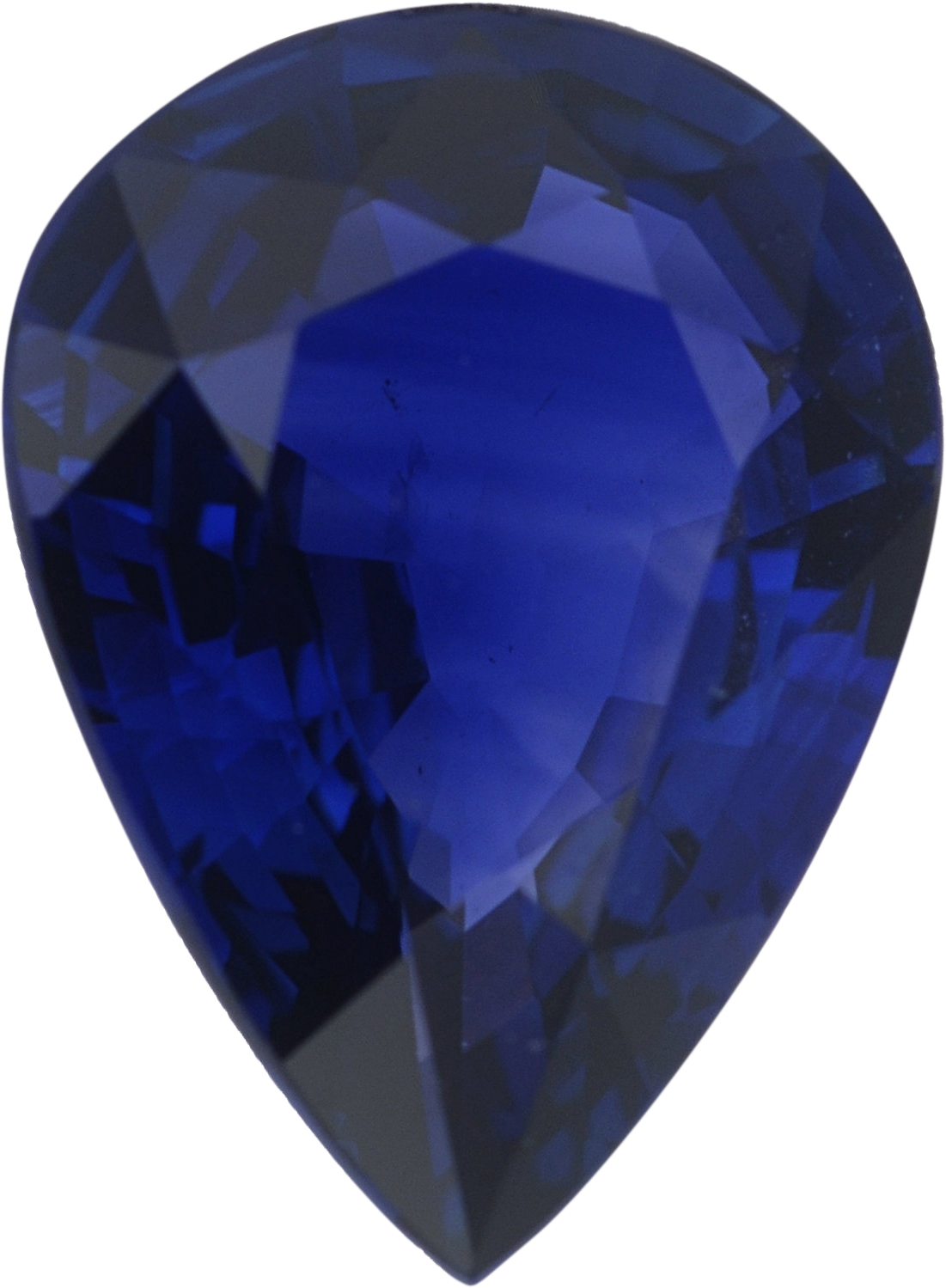 1.06 carats Blue Loose Sapphire Gemstone in Pear Cut, 7.99 x 5.91 mm
