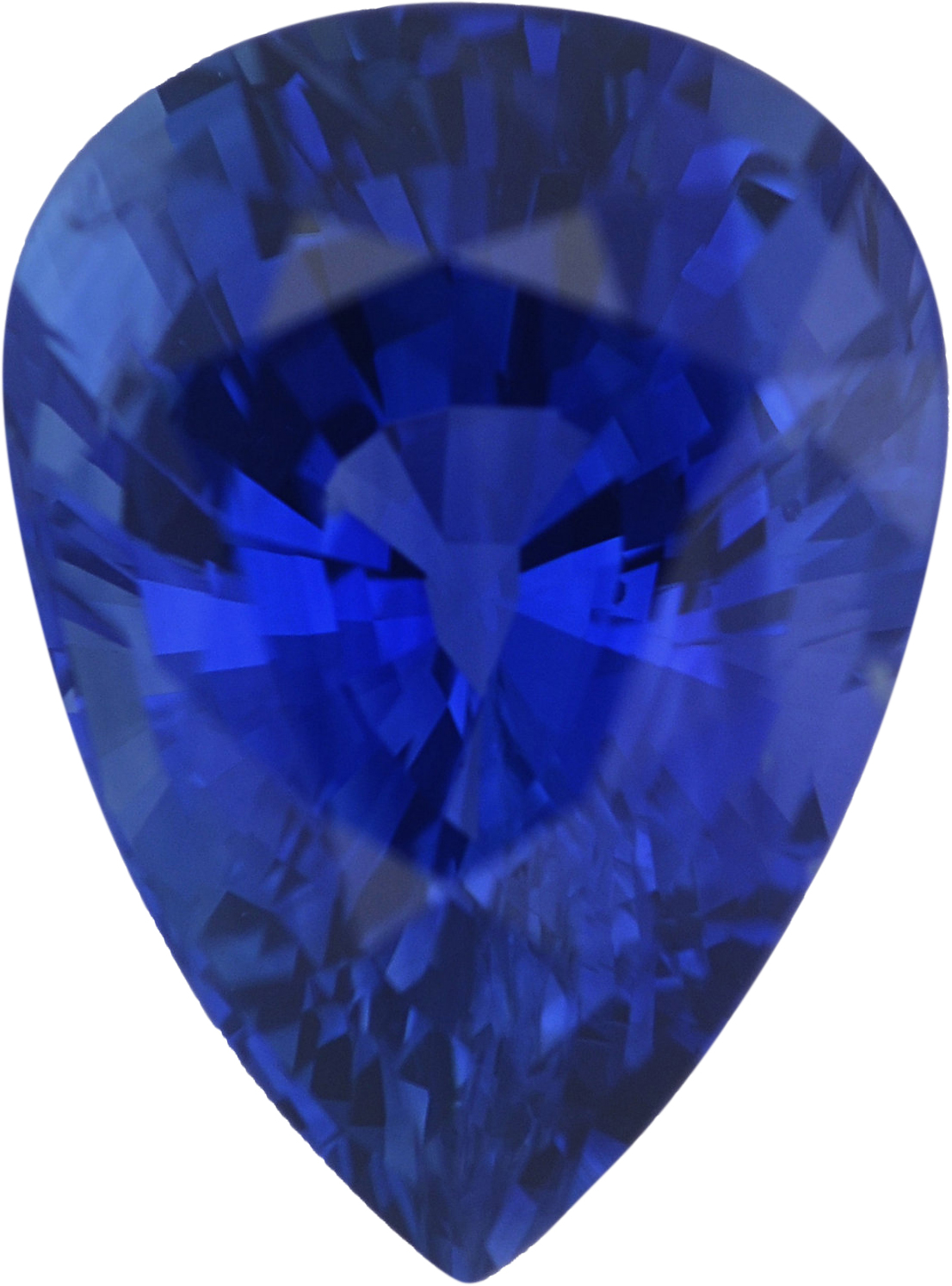 1.83 carats Blue Loose Sapphire Gemstone in Pear Cut, 8.61 x 6.46 mm