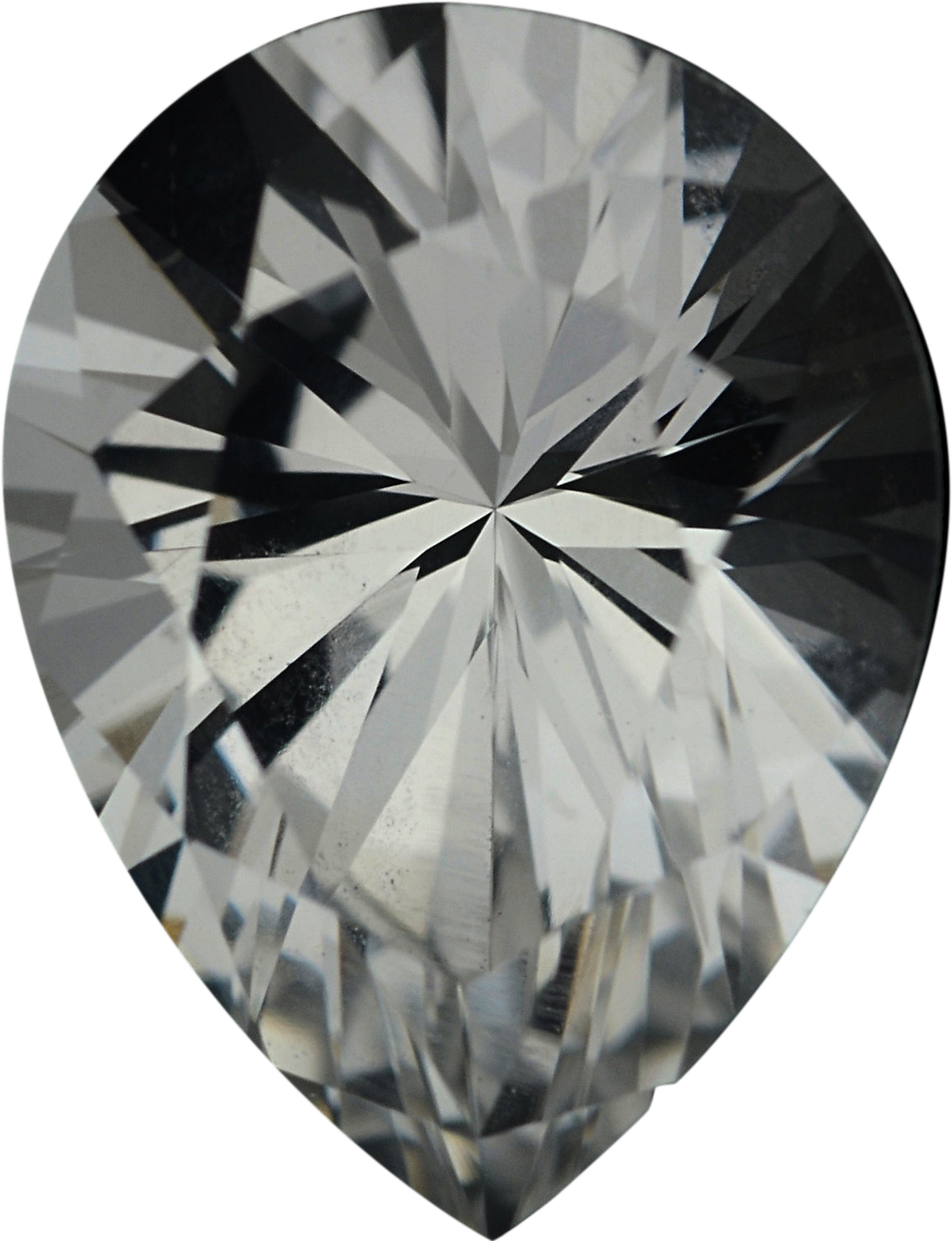 1.85 carats White Loose Sapphire Gemstone in Pear Cut, 8.95 x 6.8 mm
