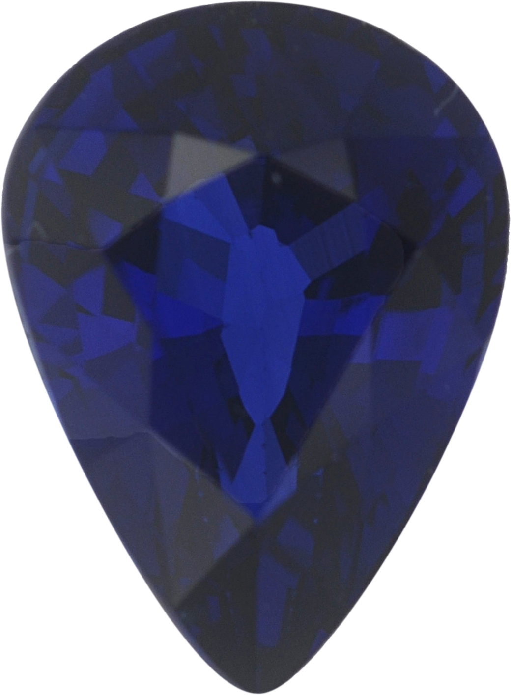 1.04 carats Blue Loose Sapphire Gemstone in Pear Cut, 7.06 x 5.08 mm
