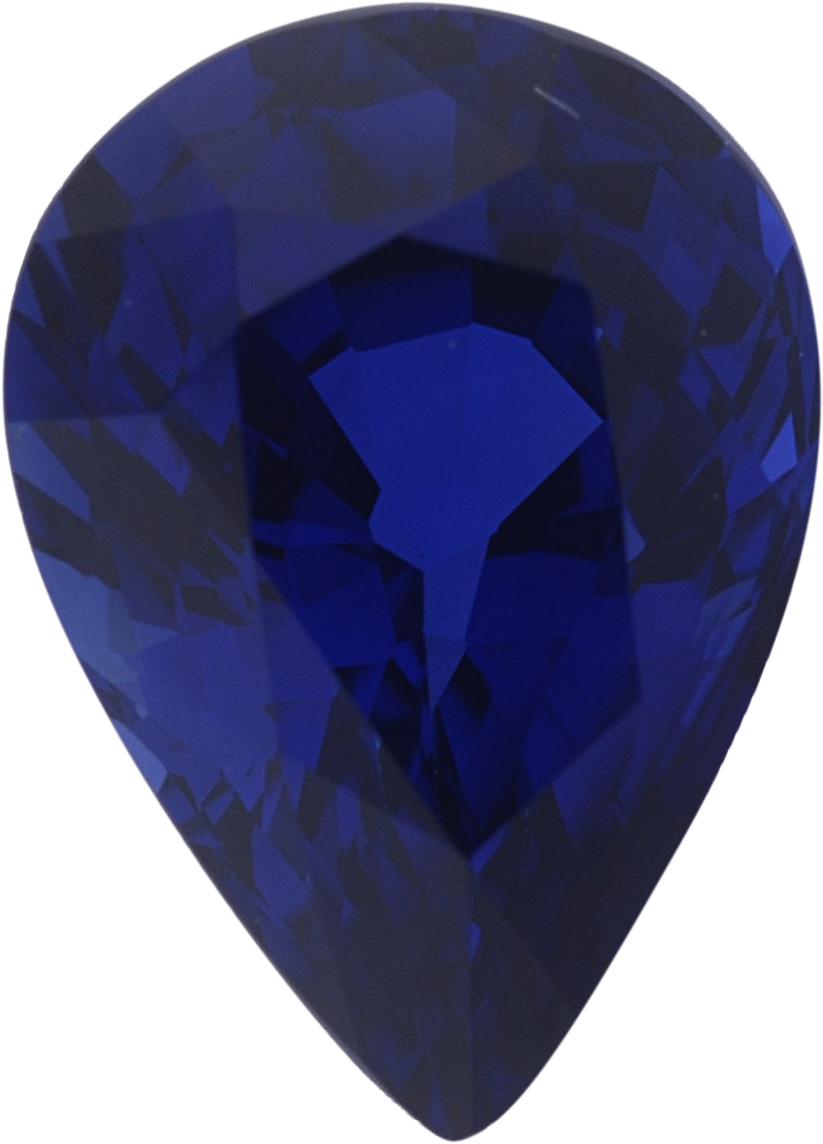 1.21 carats Blue Loose Sapphire Gemstone in Pear Cut, 7.51 x 5.45 mm