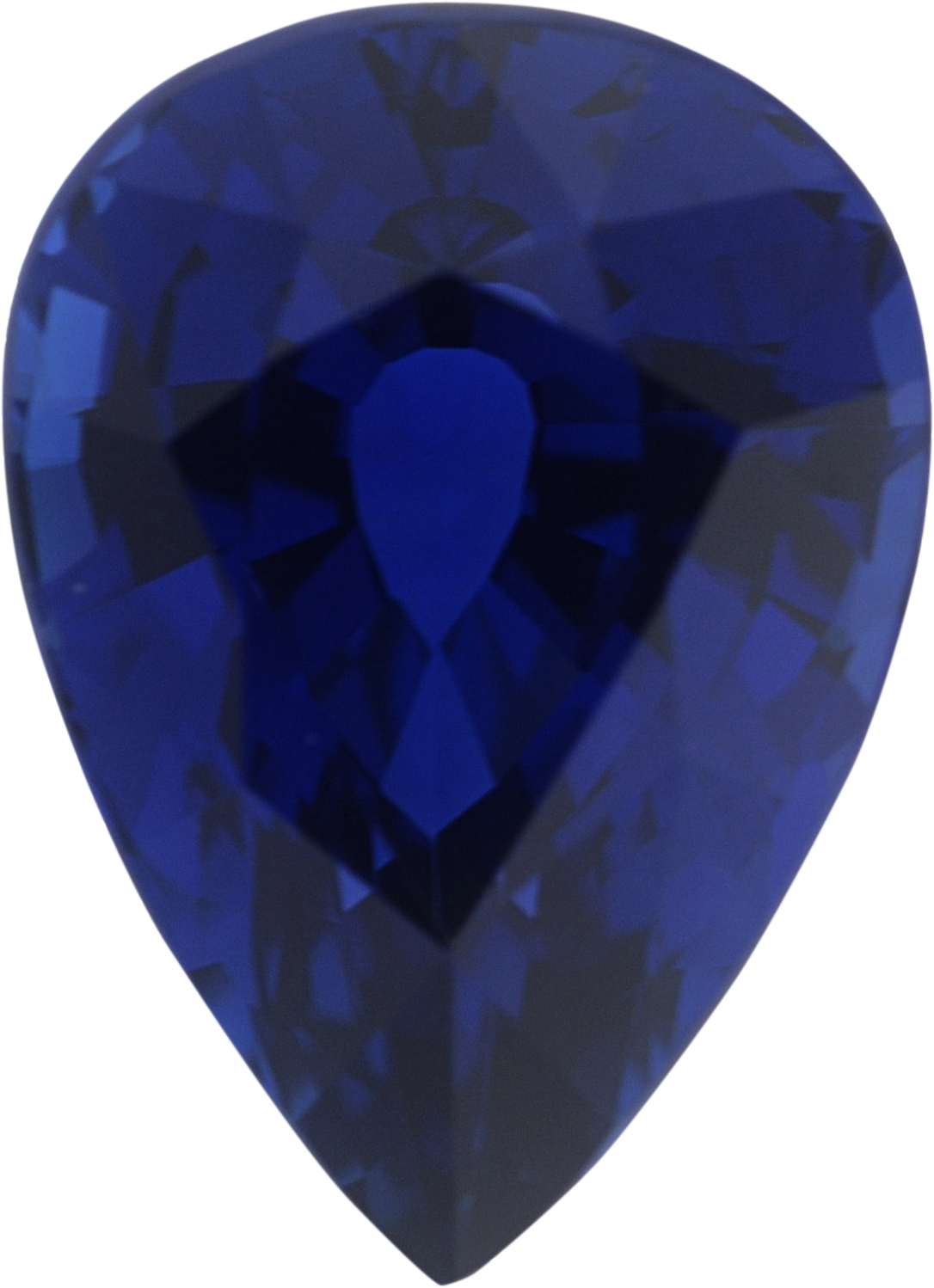 1.28 carats Blue Loose Sapphire Gemstone in Pear Cut, 7.63 x 5.53 mm