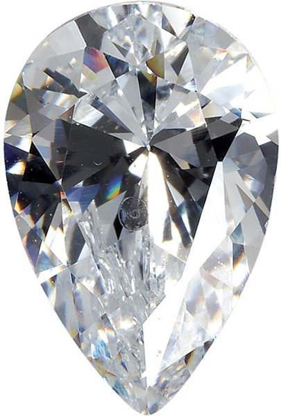 Colorless Cubic Zirconia Loose Faceted Gemstone Pear Shape Sized 4.00 x 2.50 mm