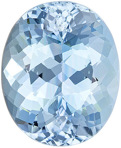 Perfect Aquamarine Ring Stone Loose Gem in Oval Cut, Rich Blue Color in 12.8 x 10.3 mm, 5.01 carats