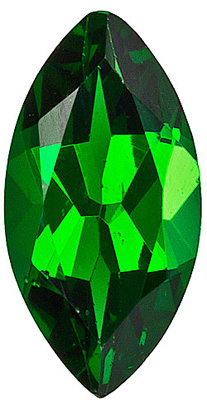 Perfect Deep Forest Green Tsavorite Gemstone, Intense Beauty, Marquise cut, 0.79 carats