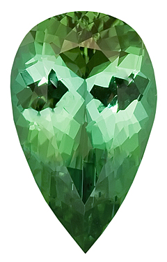 Perfect Make - Beautiful Green Tourmaline Natural Gemstone for SALE, Pear Shape, 15.6 x 9.7 mm, 6.13 carats