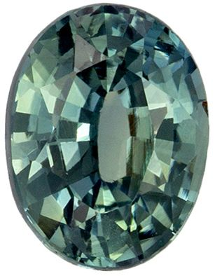 Perfect Ring Gem  Blue Green Sapphire Oval GIA No Heat, 0.98 carats, 6.64 x 5.06 x 3.38 mm