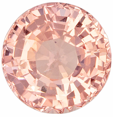 Perfect Ring Gem in Padparadscha Sapphire Round  GIA Certed No Heat, 2.04 carats, 7.12 x 7.19 x 4.79 mm