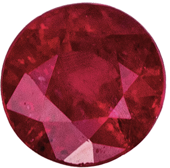 Perfect Ring Gem  Red Ruby Round Cut, 0.25 carats, 3.3 mm