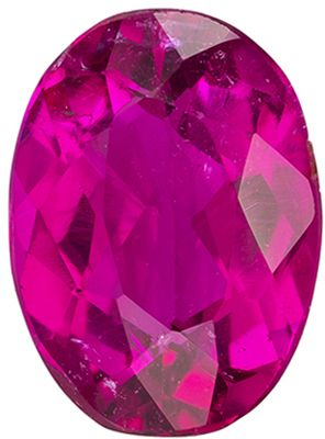 Perfect Ring Gem  Rubellite Tourmaline Oval No Heat, 1.26 carats, 8.1 x 5.9 mm
