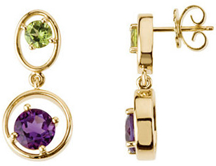 Peridot & Amethyst Earrings