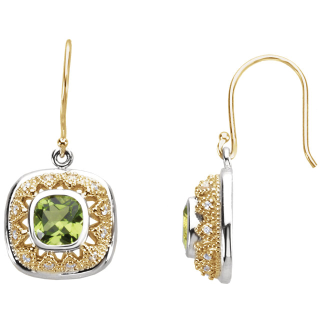 Eye Catchy Peridot & Diamond Earrings
