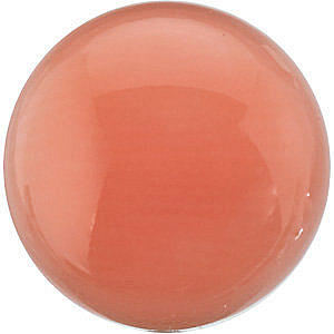 Pink Coral Round Cabachon in Grade AAA