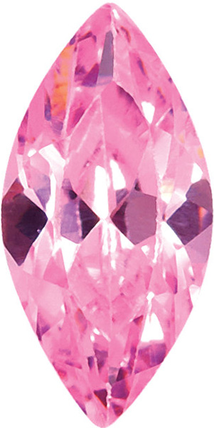 Pink Cubic Zirconia Marquise Cut Stones