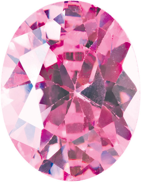 Quality Loose Genuine Faceted Pink Cubic Zirconia in Oval Shape Sized 16.00 x 12.00 mm