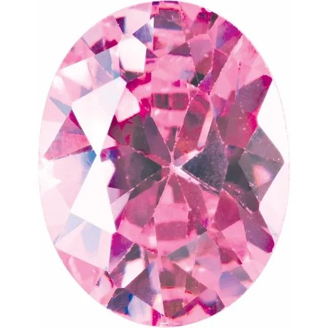 Pink Cubic Zirconia Oval Cut Stones