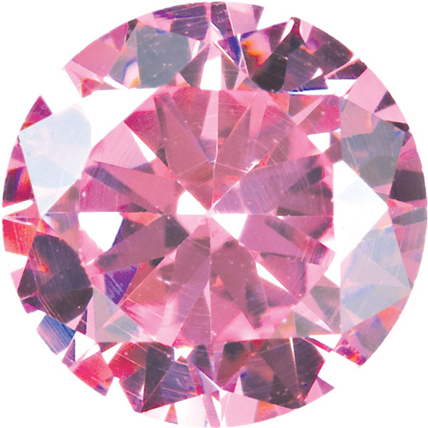 Quality Loose Genuine Faceted Pink Cubic Zirconia in Round Shape Sized 5.00 mm