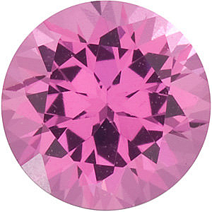 Pink Spinel Round Cut in Grade GEM