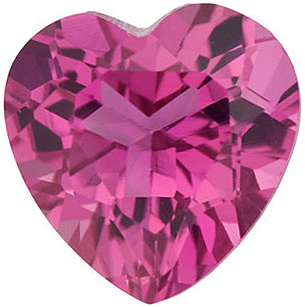 Pink Tourmaline Heart Cut in Grade AAA