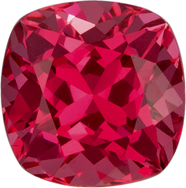 Pinkish Red Vietnam Spinel Genuine Gem in Antique Square Cut, 5.9 mm, 1.09 Carats