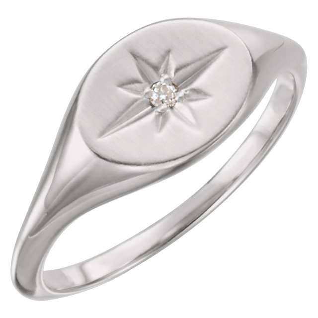 Perfect Gift Idea in Platinum .02 Carat Total Weight Diamond Ring