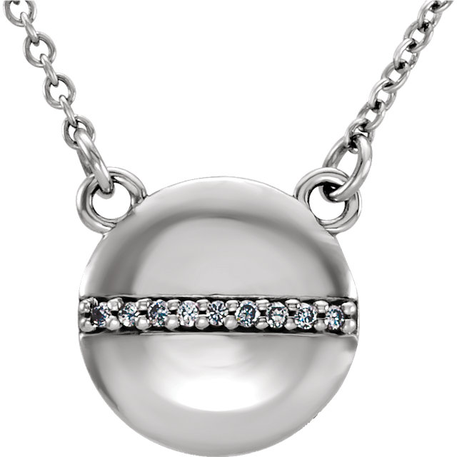 Platinum .025 Carat Diamond Circle 16