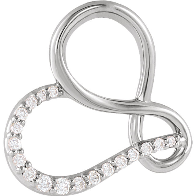 Chic Platinum .07 Carat Total Weight Diamond Infinity-Inspired Heart Pendant