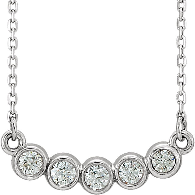 Platinum  0.33 Carat Diamond Bezel-Set 16-18